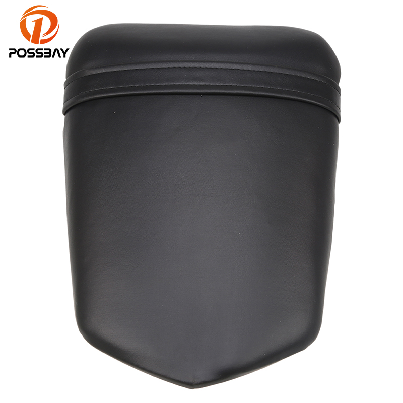 POSSBAY Leather Motorcycle Seat Cafe Racer Seat Rear Passenger Backrest for Yamaha R1 R104 2004 2005 2006 Cushion Pad Seat Cove