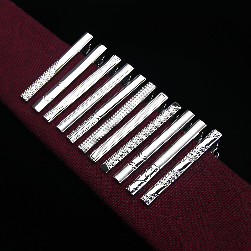 Brand New Metal Silver Tie Clip For Men Wedding Necktie Tie Clasp Clip Gentleman Ties Bar Crystal Tie Pin For Men's Accessories