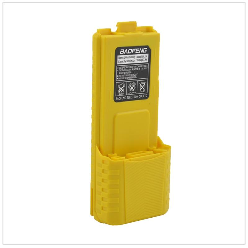 Yellow Radio Baofeng Walkie Talkie Li-ion Battery 3800mAh 7.4V For Baofeng UV-5R,UV-5RA,UV-5RB,UV-5RC,UV-5RD,UV-5E,TYT TH-F8