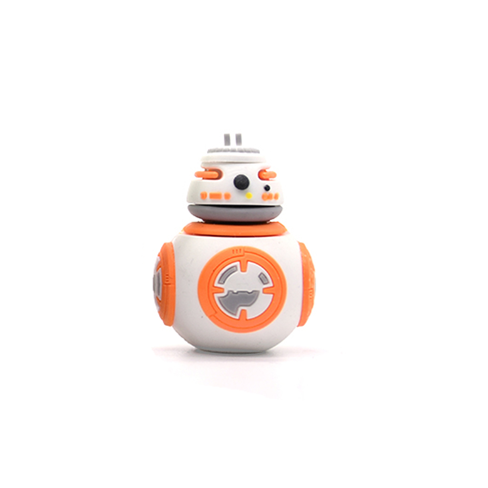 Usb Flash Drive Memory Stick Star Wars Bb-8 Usb Flash Drive Pen Drive Pendrive 64GB 32gb 16gb 8gb 4g Cartoon Creative Flash Card