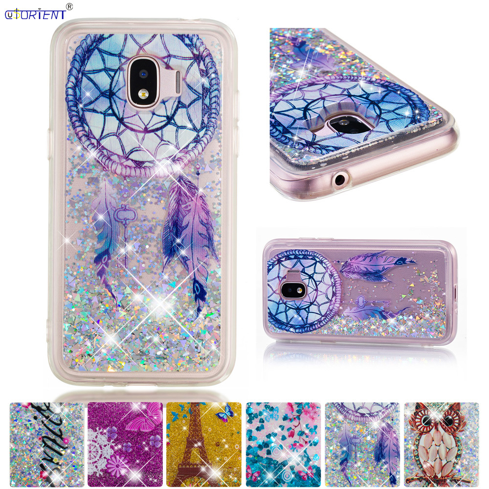 Bling Glitter Case For Samsung Galaxy J2 Pro 2018 Grand Prime Pro Liquid Quicksand Fitted Phone Cases Sm-j250f/ds Sm-j250m Cover Sophisticated Technologies Phone Bags & Cases