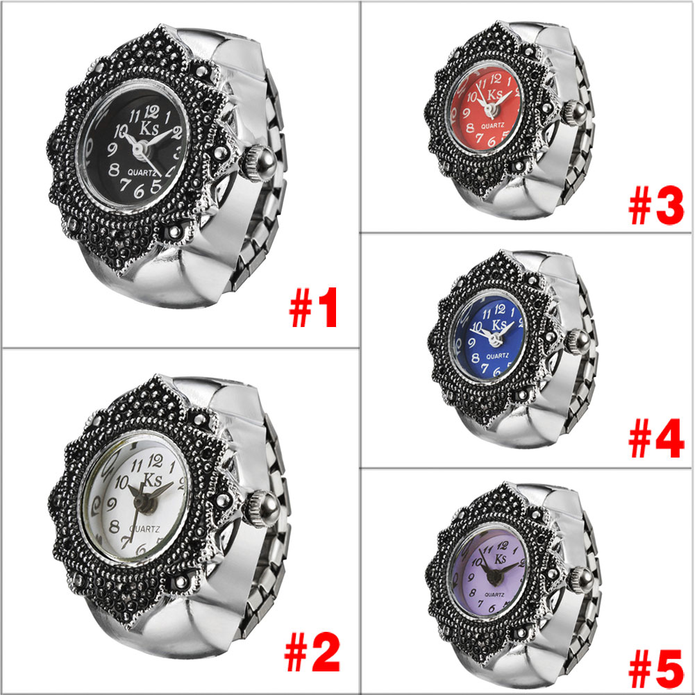 Online get cheap flower girl ring aliexpress alibaba group high grade fashion watch flower pattern watch with delicate quartz dial wrist watch ring for girls lady m23 dhlflorist Image collections