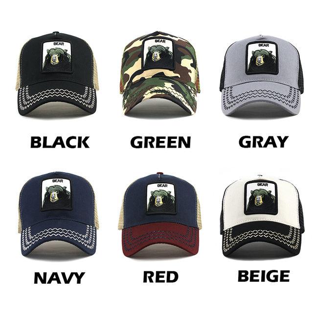 Animals Embroidery Baseball Caps Men Women Unisex Caps