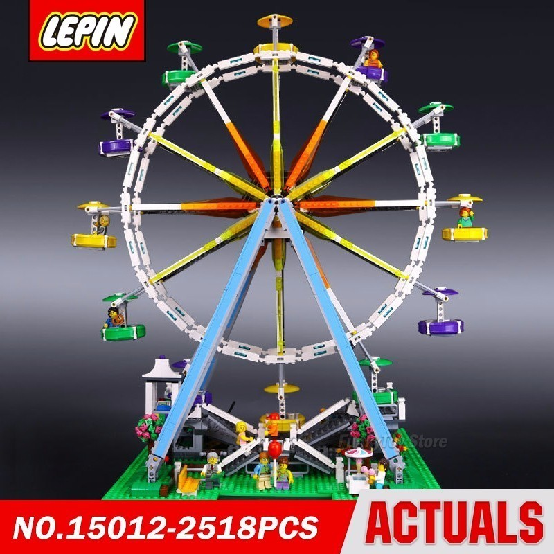 Lepin 15012 Expert Ferris Wheel 10247 City Street Series Model Building Block Brick Kits Assembling Toys Gift new lepin 22001 pirate ship imperial warships model building kits block briks toys gift 1717pcs