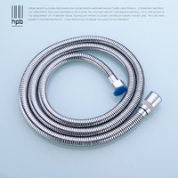 HPB 1.5m Stainless Steel Plumbing Hoses Flexible Shower Head Pipe Bathroom Shower Set Accessories Spray Tubes HP7105