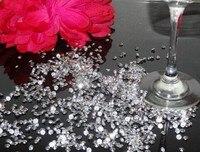 4,5 MM, 10000 STÜCKE TASCHE HOCHZEIT CLAER TABELLEN-STREUUNG KRISTALLE DIAMANT KONFETTI DEKORATION