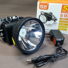 New 5 w rechargeable LED lithium battery waterproof head lantern for outdoor hunting fishing from miners headlamp