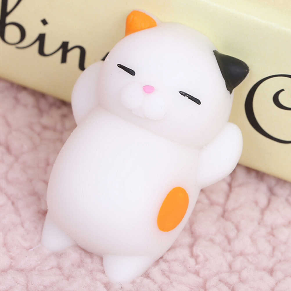 Antiestrés blando vomitivo huevo cerdo gato yema antiestrés amarillo perezoso huevo broma juguete bola huevo apretón divertido juguetes regalo