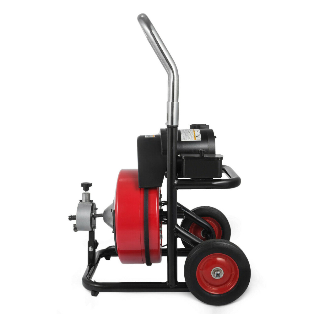 Skillful Knitting And Elegant Design 20-100mm 250w Pipe Drain Cleaner Cleaning Machine 50x 1/2 Augers Spring Cable Metal Steel Swinging Dredging Springs Forward To Be Renowned Both At Home And Abroad For Exquisite Workmanship Power Tool Accessories