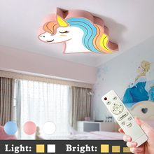 De la habitación de los niños luz led luces de techo con control remoto de lámpara de habitación de los niños lindo lámpara de techo art deco habitación de niño