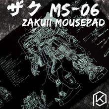 Bàn phím cơ Mousepad Zaku II ms 06 900 400 4mm không May Viền Mềm/Cao Su chất lượng Cao
