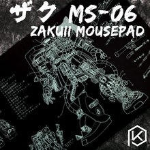Mechanical keyboard Mousepad zaku II  ms 06 900 400 4 mm non Stitched Edges Soft/Rubber High quality