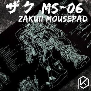 Image 1 - Mechanische tastatur Mousepad zaku II ms 06 900 400 4mm nicht Genäht Kanten Weiche/Gummi Hohe qualität