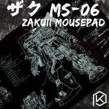 기계식 키보드 마우스 패드 zaku ii ms 06 900 400 4mm 비 스티치 가장자리 소프트/고무 고품질