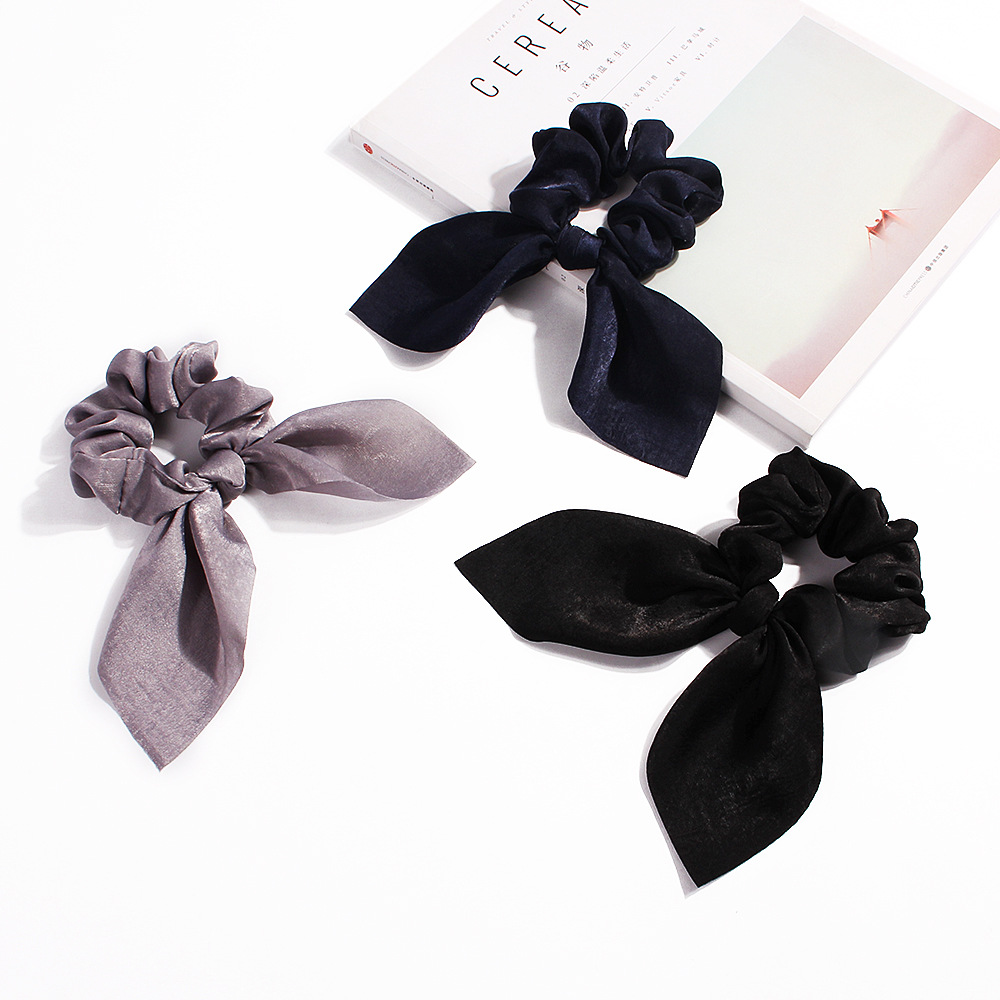 Sale Women Rubber Bands Tiara Satin Ribbon Bow Hair Band Rope Scrunchie Ponytail Holder Elastic Gum for Hair Accessories in Women 39 s Hair Accessories from Apparel Accessories