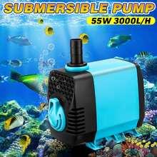 55 W AC 220-240 V 3000L/H pompy wody wodoodporna Ultra cicha zatapialna filtr pompy ryby staw/oczko wodne fontanna zbiornik akwarium ue wtyczka