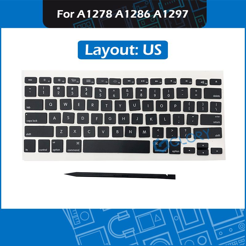 New AP02 Keycap Set US UK French Russian German Danish Swedish For Macbook Pro A1278 A1286 A1297 Keycaps Replacement