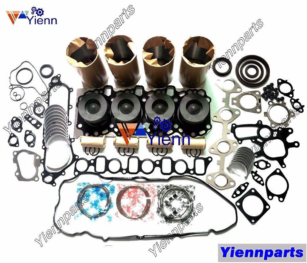 US $826 0 |Toyotai 1KD 1KD FTV Engine Overhual Rebuild Parts: Piston,Piston  ring,Cylinder liner ,Gasket kit ,Mian bearing & Conrod bearing-in Pistons,
