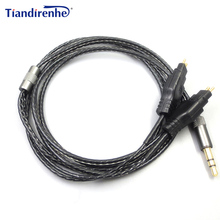 Cable de repuesto para auriculares Sennheiser HD414 HD650 HD600 HD580 HD25, auriculares estéreo de graves, actualización de Cables de Audio