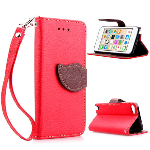 best website d0404 9887c US $2.6 |Stylish PU leather stand cover for apple ipod touch 6 with card  slots,for ipod touch 6th generation leaf clip touch5 case-in Wallet Cases  ...