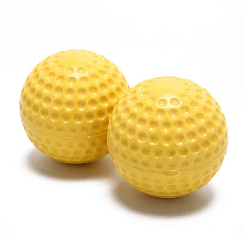Practice Training Baseball Balls 9 Inches Ultralight Non-toxic Tasteless Yellow Fully Rubber Solid Baseball