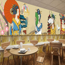 Japanese restaurant sushi restaurant background wall professional production mural wholesale wallpaper custom poster photo wall free shipping vintage japanese sushi ladies mural hot pot shop hand pulled noodle screen wallpaper mural
