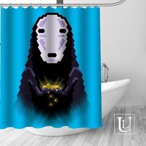 Image 5 - Bir yolculuk of Chihiro duş perdeleri özel banyo perdesi su geçirmez banyo kumaş Polyester duş perdesi 1 adet özel