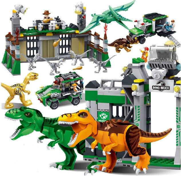 Jurassic World Park Dinosaur Raptor protection zone Building Blocks ...