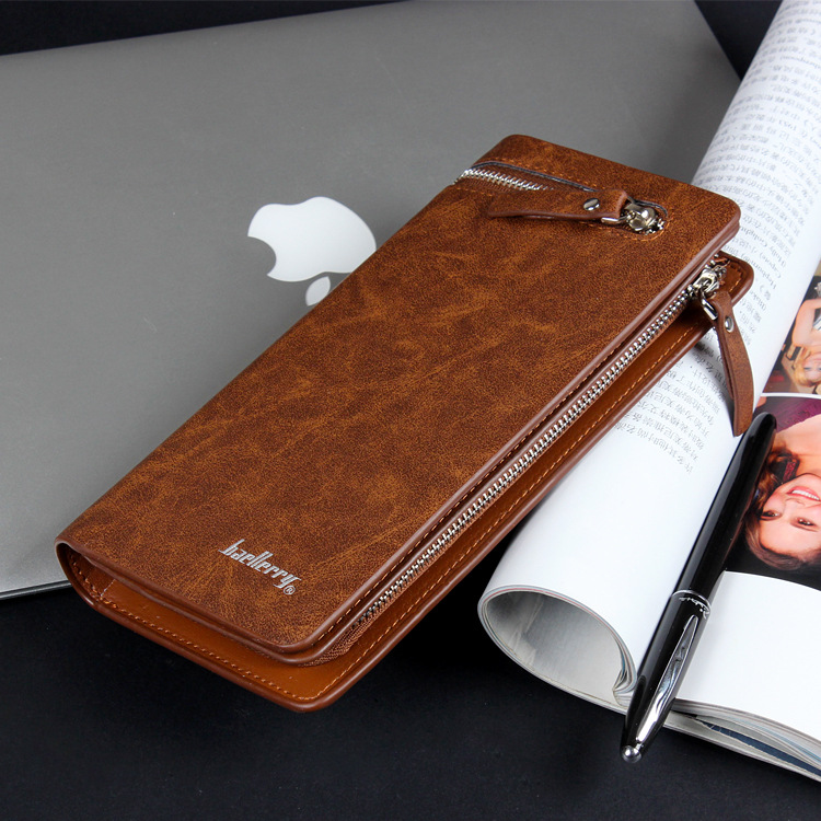 Topdudes.com - Handy Business Portfolio Clutch Wallet with Long Section Coin, Phone Pocket Bag