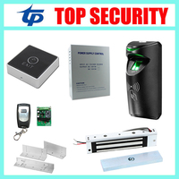 TCP/IP linux biometric fingerprint door access control system smart card door access controller with electric door lock system