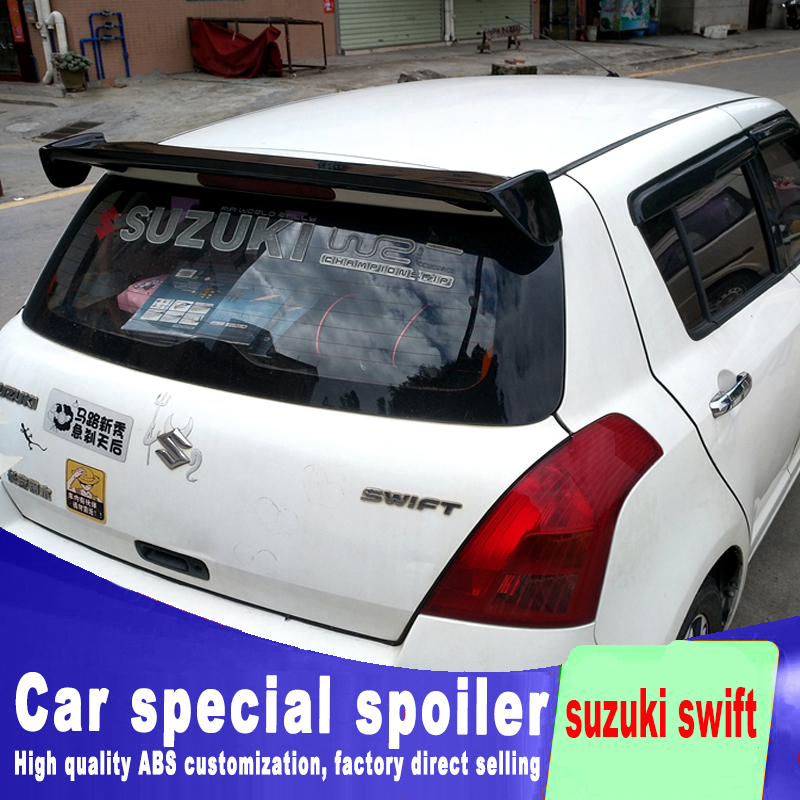2005-2015 high quality ABS material For <font><b>suzuki</b></font> <font><b>swift</b></font> style spoiler for big High hardness spoilers by primer or DIY color paint image