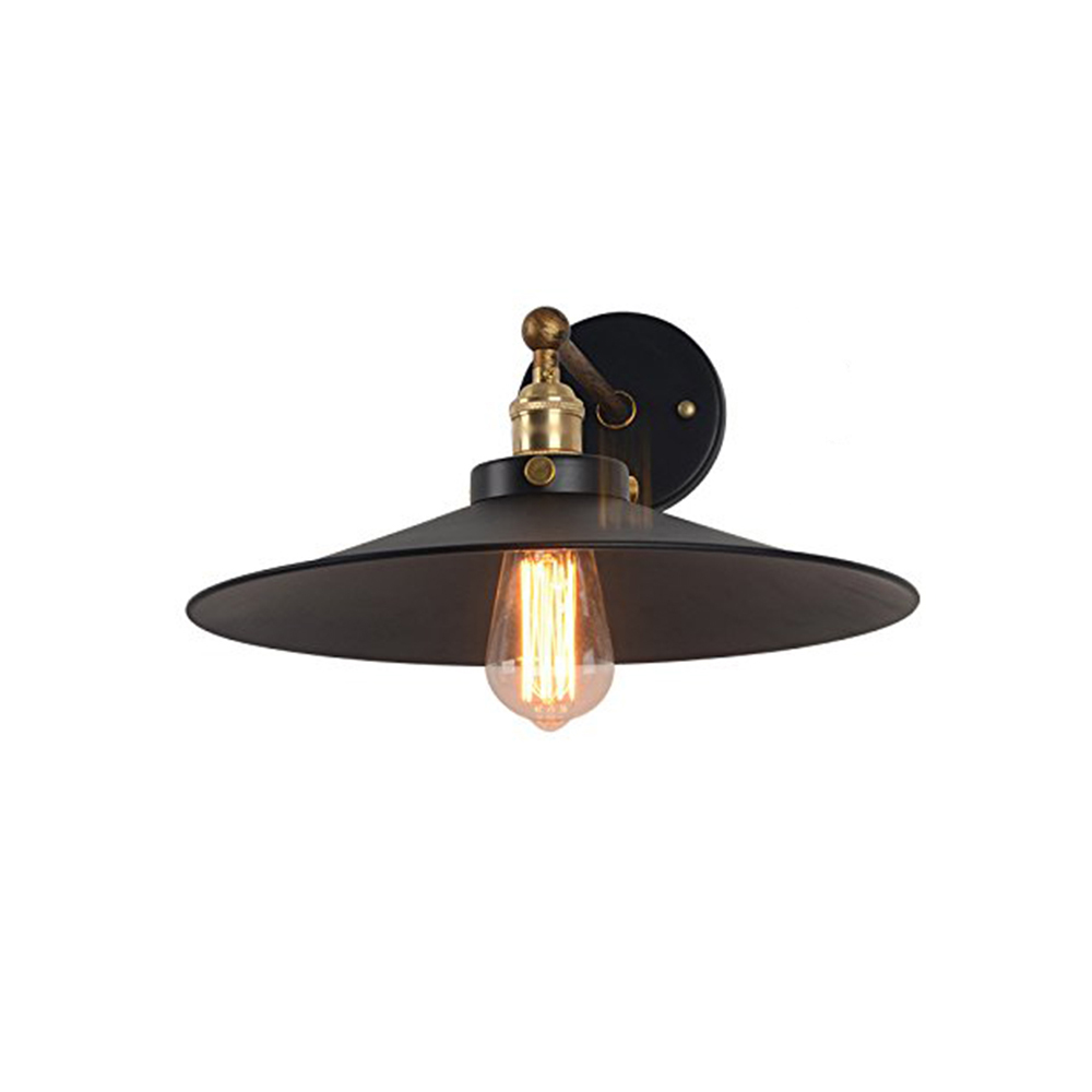 LAZG Black Steel American Vintage Wall Lamp Indoor Lighting Bedside Lamps Retro Wall Lights For Dining Room Foyer Study american country retro pendant lights fixture vintage black droplights home indoor lighting dining room foyer bedroom hang lamps