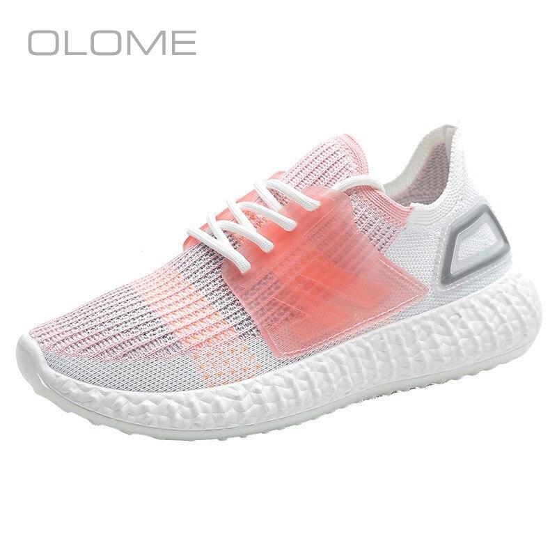 OLOME Super feu été sauvage mouche tissage plate-forme baskets mode femmes chaussures chaussettes décontractées chaussures