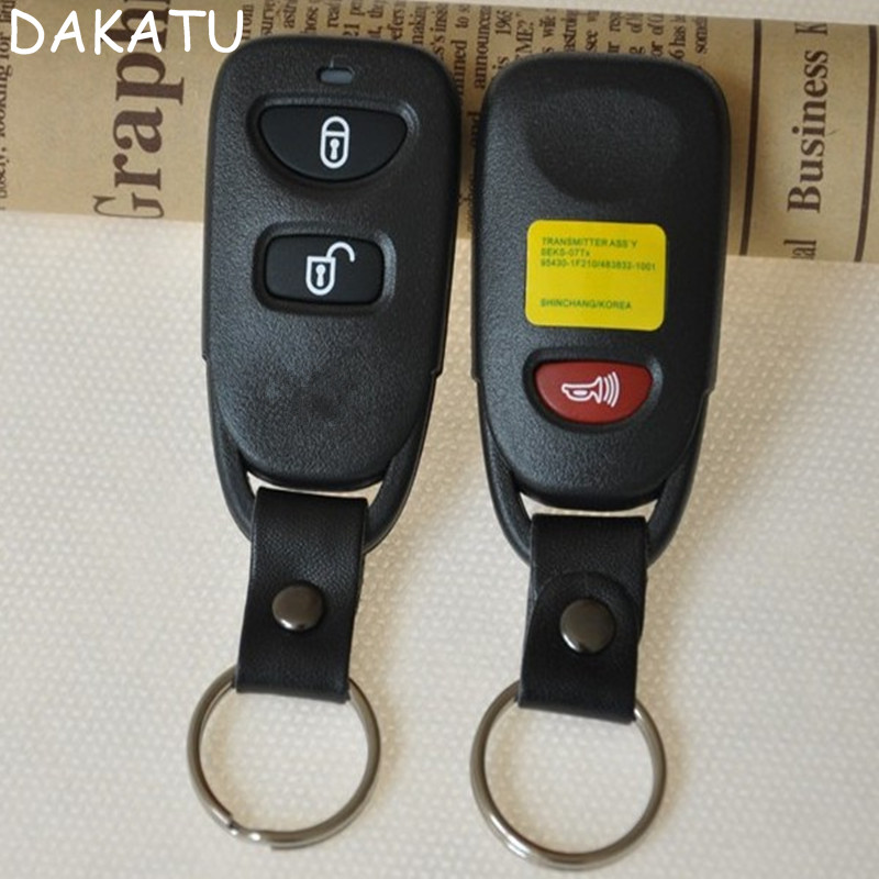 DAKATU Replacement Remote Key Shell 2 Button +Panic For HYUNDAI Tuscon Accent Keyless En ...