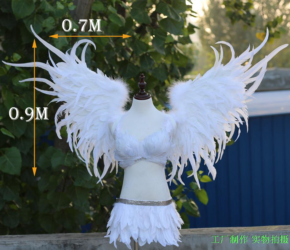 black or White festival Angel Feather wings Window props underwear catwalk Golden angel wing props catwalk show props