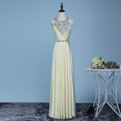 Вечернее платье,, длина до пола, сатиновые Сексуальные вечерние платья для выпускного вечера, элегантные длинные вечерние платья - Цвет: yellow champagne