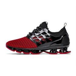 2018 Feminino Esportivo de primavera y otoño de los hombres zapatillas de deporte Zapatos de tendencia de estilo deportes respirable Zapatillas para hombre 001