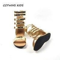 CCTWINS KIDS 2017 Summer Baby Girl Brand Gladiator Shoe Children Fashion Toddler Strap Black Flat Kid