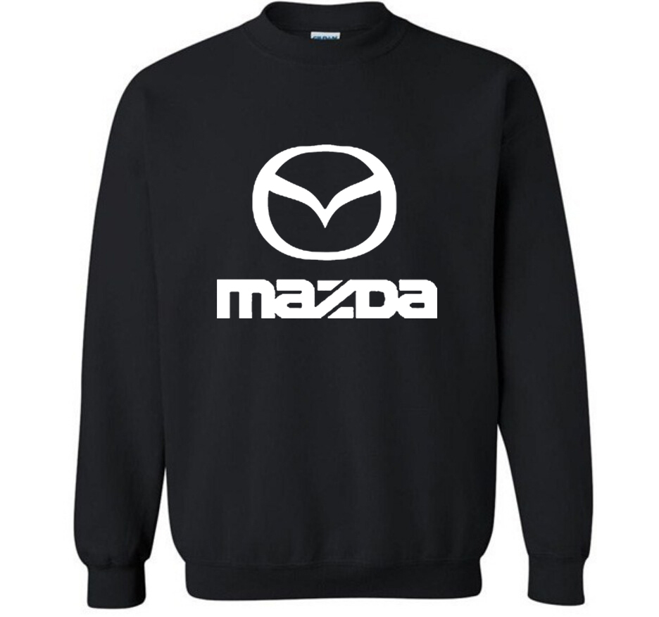 New Fashion Cotton Men Hoodies Mazda Car Logo Print Fleece O-Neck Pullover Sweatshirts HipHop Harajuku Streetwear Men Clothing