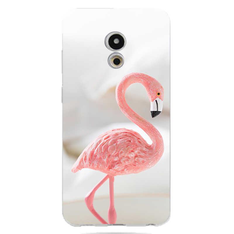 QMSWEI TPU teléfono caso para Meilan MX6 pro6 u10 u20 E2 m3 M5 M5s de note3 Colorful Flamingo teléfono caso envío gratis