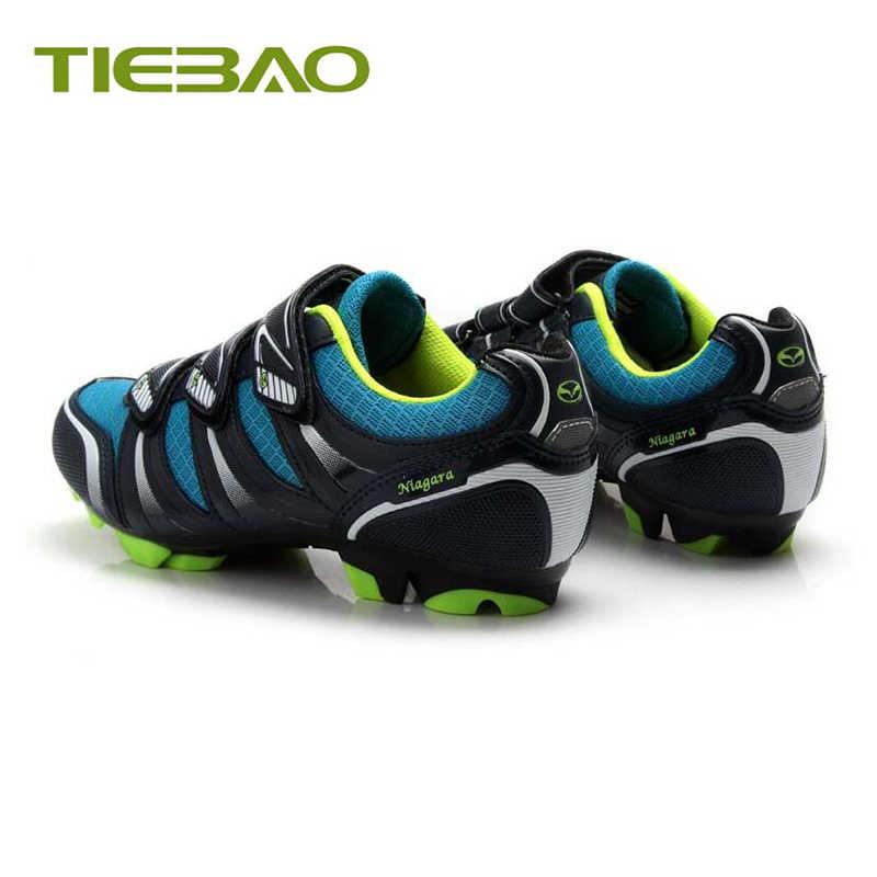 Tiebao profesional MTB zapatos de ciclismo al aire libre Atlético Racing Bike zapatos de bicicleta de bloqueo automático SPD Cleated pedales zapatillas