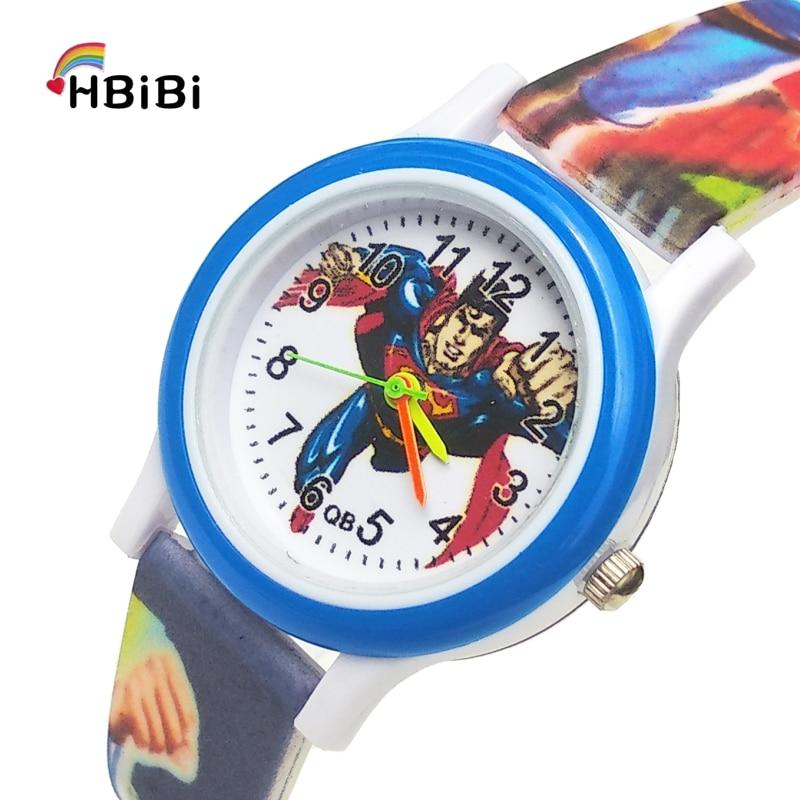 Printed Strap Super Hero Children's Watch Waterproof Kids Watches Student Clocks Child Quartz Watches For Baby Girls Boys Gift