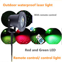 Remote Control Outdoor IP65 Waterproof Red Green Moving Twinkle Laser Lights Projector Decorations For Garden