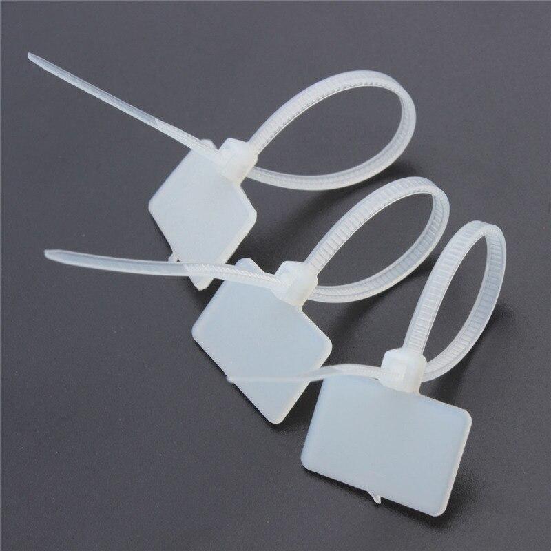 New Arrival 100Pcs Nylon Self Locking Label Tie Network Cable Marker ...
