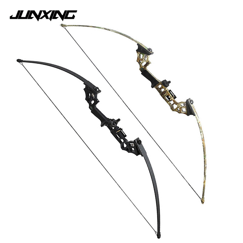 2 Color 40 Lbs Straight Pull Bow for Right Handed for Compound Bow Archery Hunting Shooting