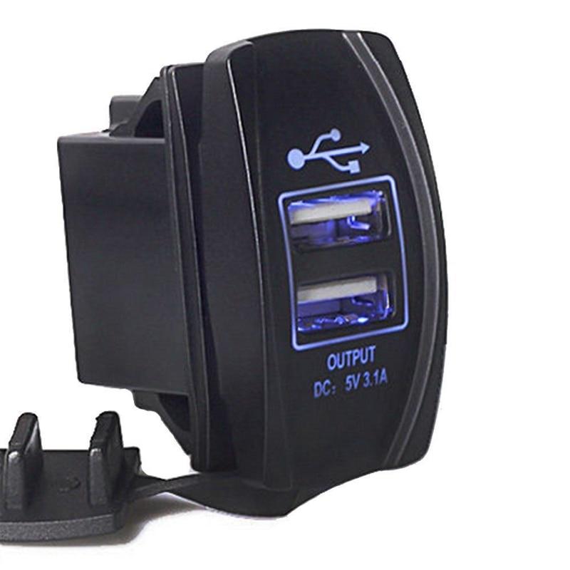 12V 24V dvojni USB vtičnica avtomobilski polnilec napajalnik 3.1A 5V - Avtodeli