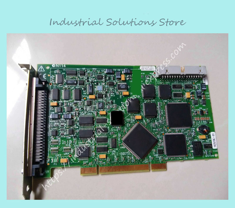 industrial motherboard PCI-6025E data card 100% Tested Work Perfect sbc8252 long industrial motherboard cpu card p3 long tested good working perfec