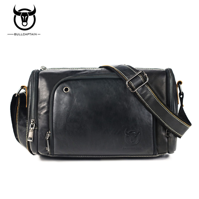 BULLCAPTAIN Brand Casual Men Bags Genuine Leather Large Capacity Man Crossbody T