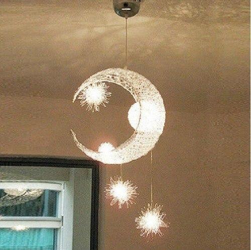 Здесь можно купить  Free shipping,Bedroom Moon & Stars Modern Ceiling Light Lighting Lamp Chandelier Free shipping,Bedroom Moon & Stars Modern Ceiling Light Lighting Lamp Chandelier Строительство и Недвижимость