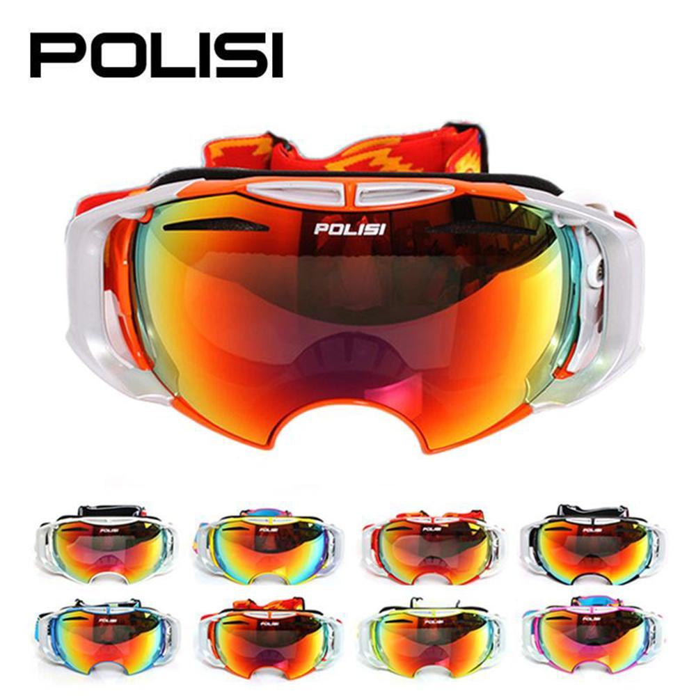 POLISI Unisex Winter Ski Sonw Eyewear Daytime and Night Two Replaceable Lenses Outdoor Sports Snowboard Anti-Fog Goggles Glasses topeak sports outdoor sports cycling photochromic sun glasses bicycle sunglasses mtb nxt lenses eyewear goggles unisex